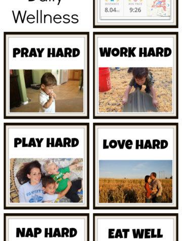 7 Tips for Daily Wellness - Run, Pray, Work, Play, Love, Nap, Eat.