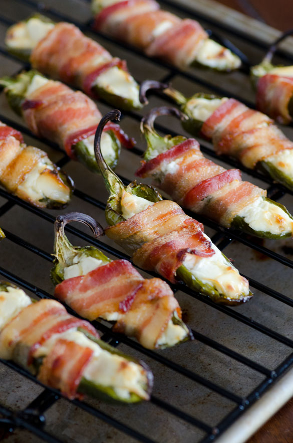 Bacon Wrapped Jalapeño Poppers with Cream Cheese - the ultimate classic game day party food!