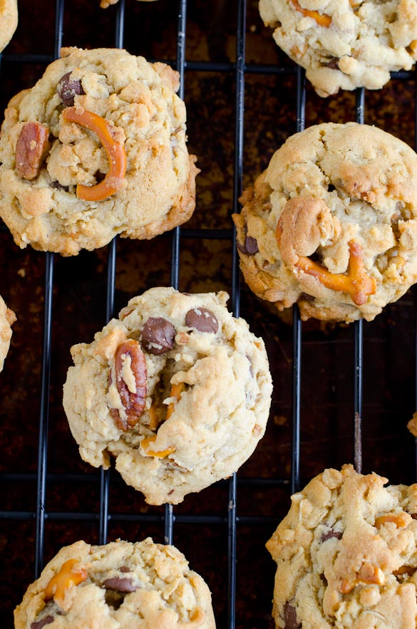 Mountain Trail Cookies - pecans, pretzels, butterscotch chips, chocolate chips...
