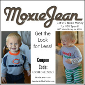 MoxieJean.com - a fabulous upscale resale site that focuses on baby and kid clothes. Click through to receive a coupon code!