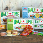 HALF TIME™ Lunch Kits - convenient, pre-packed lunch kits with Mom's most trusted brands (Applegate, Stonyfield & Annie's)