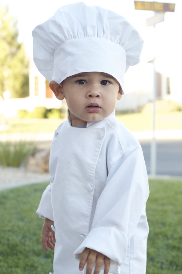 Halloween Costume - Kid Chef Costume