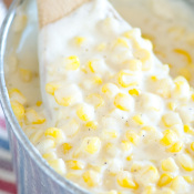 Slow Cooker Cream Corn - creamed corn just like Rudy's BBQ!