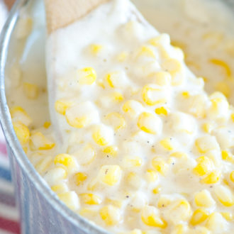 Slow Cooker Cream Corn (Rudy's BBQ Copycat)