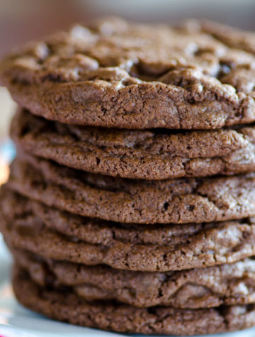 Giant Double Chocolate Bakery Cookies