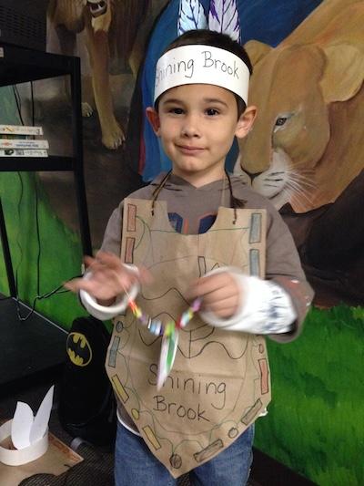 Judah at Thanksgiving party for school