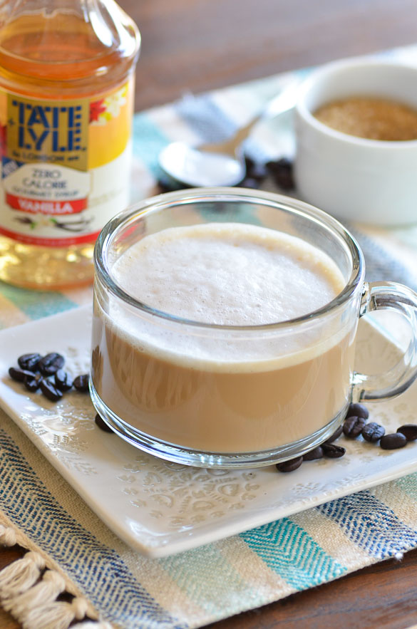 Low-Calorie Vanilla Latte (Skinny Vanilla Latte) - you can make at home without an espresso machine or fancy equipment!