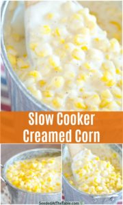 pinterest collage for slow cooker creamed corn recipe