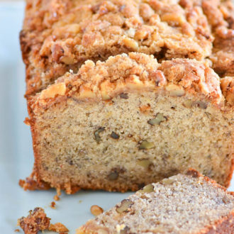 Banana Bread with Walnut Streusel Topping