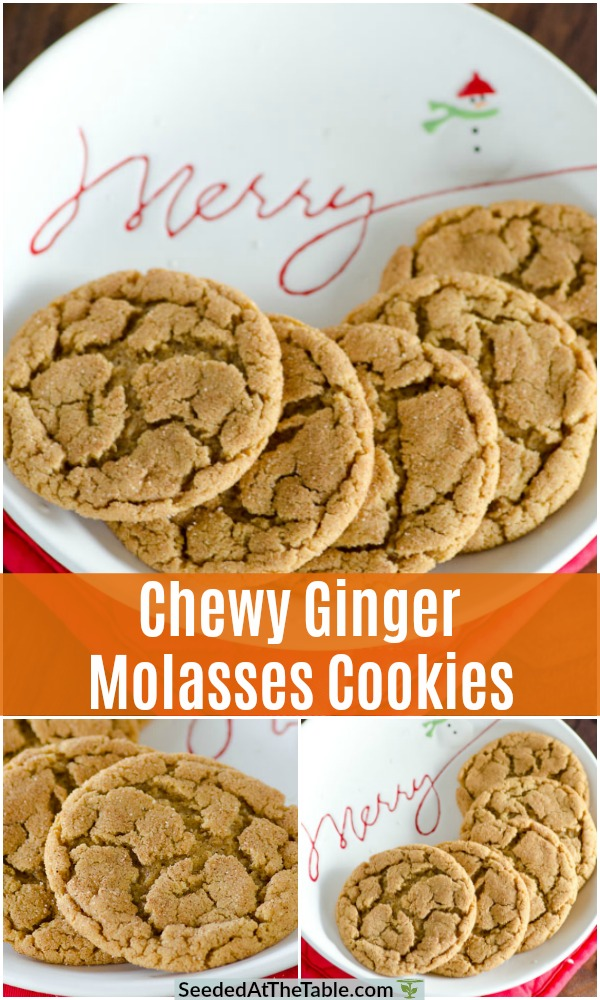 These chewy ginger molasses cookies are a combination of a snickerdoodle and a gingersnap for a new classic holiday treat! Also called