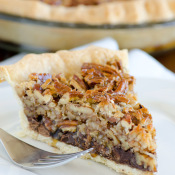 German Chocolate Pecan Pie - easiest gourmet pie!