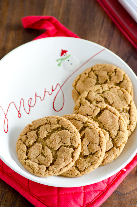 White Christmas plate of cookies