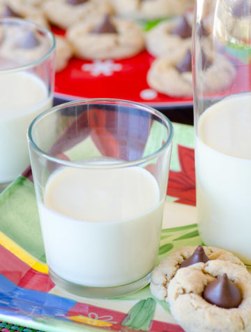 homemade eggnog on a plate with cookies