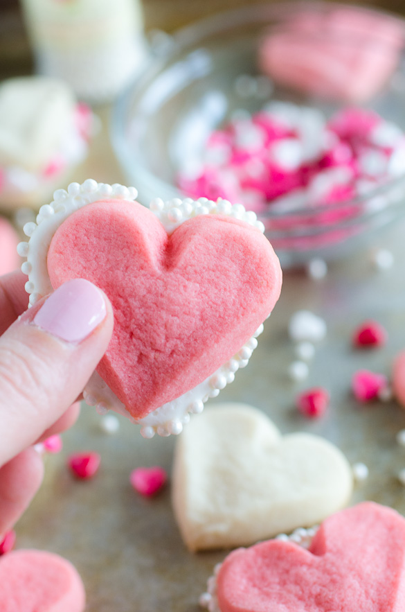 heart sandwich cookies with sprinkles
