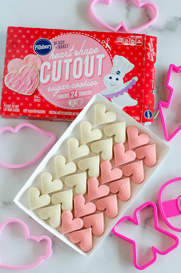 pillsbury heart shaped cut out sugar cookies