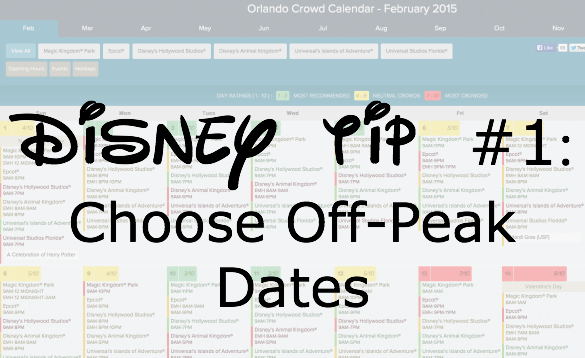 Disney Tip title pick off peak dates.