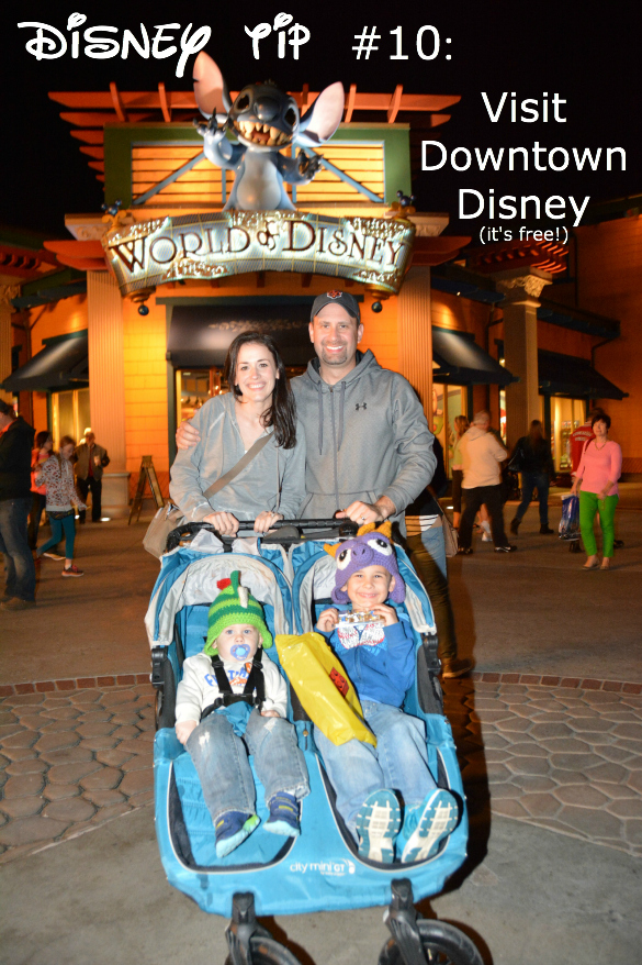 Disney tip to visit downtown Disney pictured with Disney family.