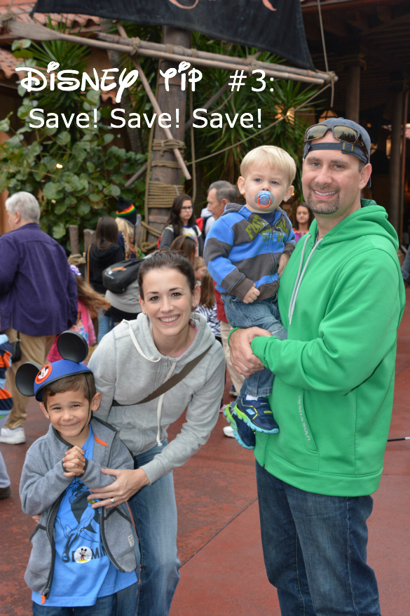 Disney tip to save with photo of Disney family.