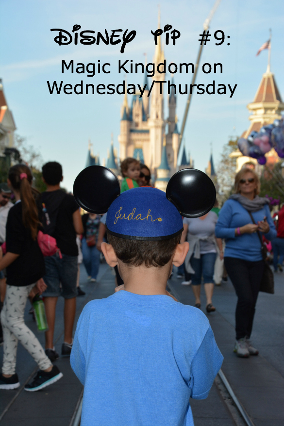 Disney tip with boy in Mickey ears and Disney castle.