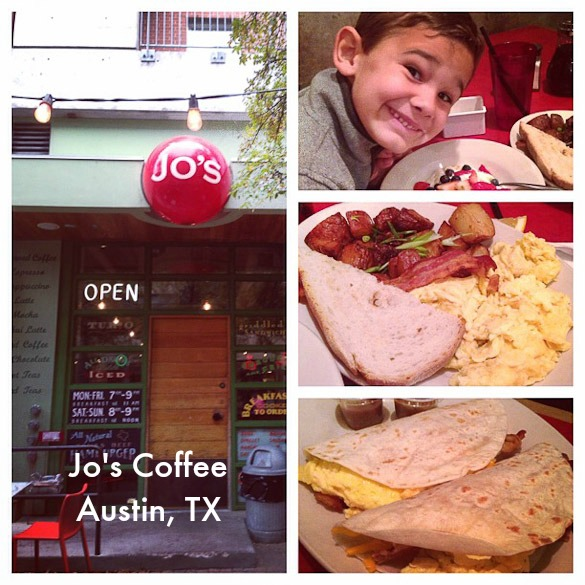 Family-Friendly Places to Eat in Austin, TX: Jo's Coffee