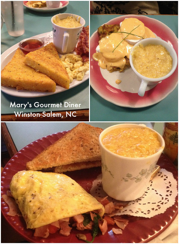 Mary's Gourmet Diner - made from scratch breakfast and lunch. Family friendly in downtown Winston-Salem, NC