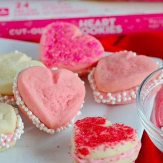 3-Ingredient Heart Shaped Cookies