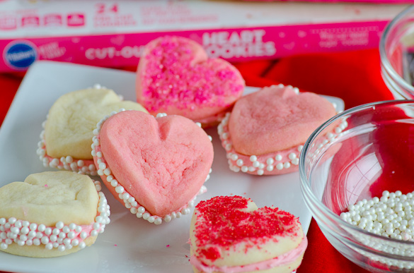 3-Ingredient Heart-Shaped Cookies by Pillsbury