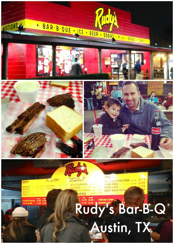 Family-Friendly Places to Eat in Austin, TX: Rudy's BBQ