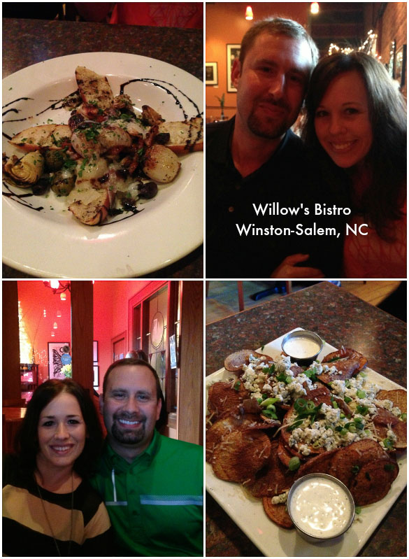 Willow's Bistro - date night in downtown Winston-Salem, NC.
