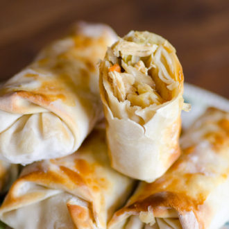 Easy Baked Chicken Egg Rolls
