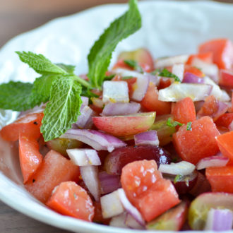 Grape Mint Tomato Salad (Ally's Kitchen Cookbook)