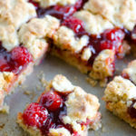Apple Butter Cherry Cobbler Bars