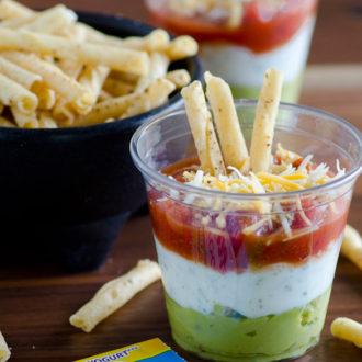 Layered Fiesta Dip with Greek Yogurt Ranch