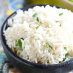 Bowl of cilantro lime white rice