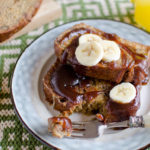 Apple Butter Banana Bread French Toast with Apple Butter Honey Syrup