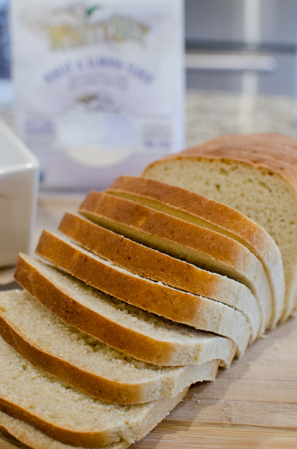 Almond Wheat Sliced Bread using White Lily's new Wheat and Almond Premium Flour Blend