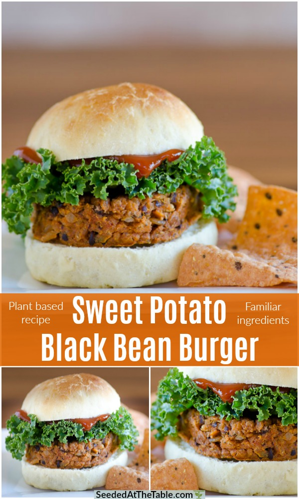 This sweet potato black bean burger is easy and a perfect meatless meal option.  It's a delicious and nutritious plant based burger that uses familiar ingredients.  This impossible burger will soon become your favorite!