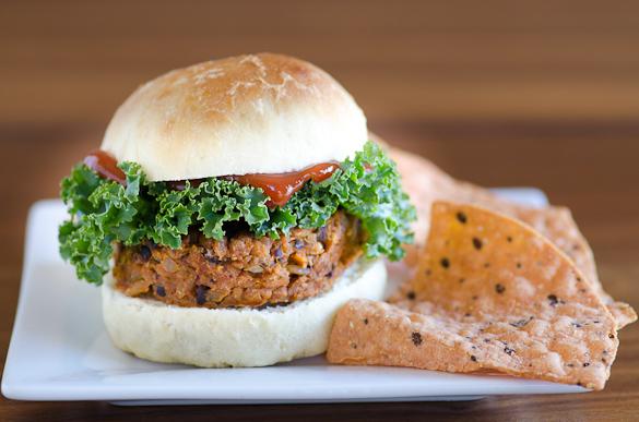 Sweet Potato Black Bean Veggie Burger - simple and satisfying healthy meatless meal.