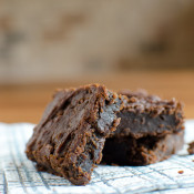 Chocolate Butter Bean Brownies - no flour, no eggs! Fudgy, chewy, delicious and EASY to make with simple ingredients you have!