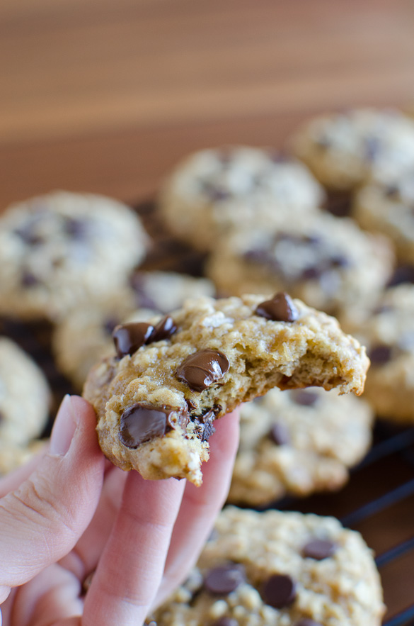 Banana Oat Chocolate Chip Breakfast Cookies
