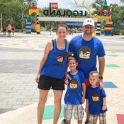 Family LEGO shirts plus photos of LEGOLAND Florida Resort in Winter Haven, FL near Orlando.