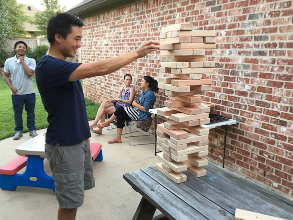DIY Giant Jenga for less than $20 and only 2 hours.