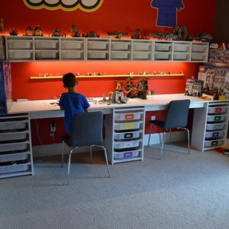 LEGO Room and LEGO Desk - A step by step on how to design a LEGO room in your house with a LEGO desk.