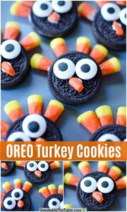 pinterest collage for oreo turkey cookies