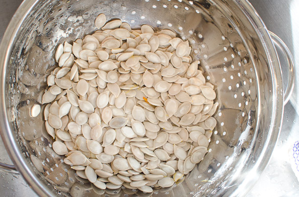 How to Roast Pumpkin Seeds - Save your pumpkin seeds and toast them in the oven for a quick and easy healthy snack!