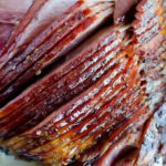 Oven Baked Ham - Such an easy recipe with homemade brown sugar glaze. The simplest, most tasty ham!