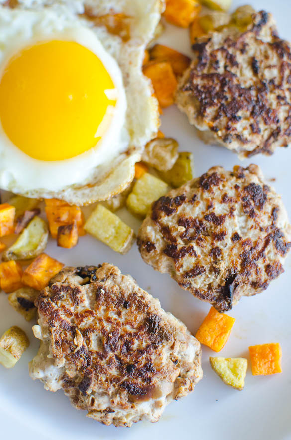 Apple Onion and Sage Breakfast Sausage - I buy ground pork from the grocery (for super cheap!) and then mix in the other ingredients for a homemade, Whole30 compliant breakfast in 10 minutes!