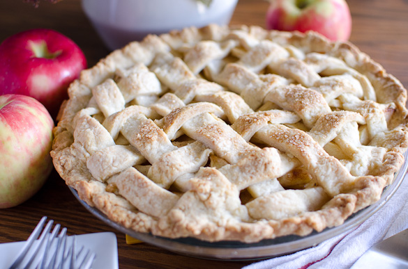 Our favorite homemade apple pie recipe for over 10 years! It's simple and delicious, and requires zero chill time for the dough. This American favorite uses basic ingredients like flour, sugar and cold butter for a quick and flaky crust!