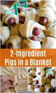 pinterest collage for pigs in a blanket