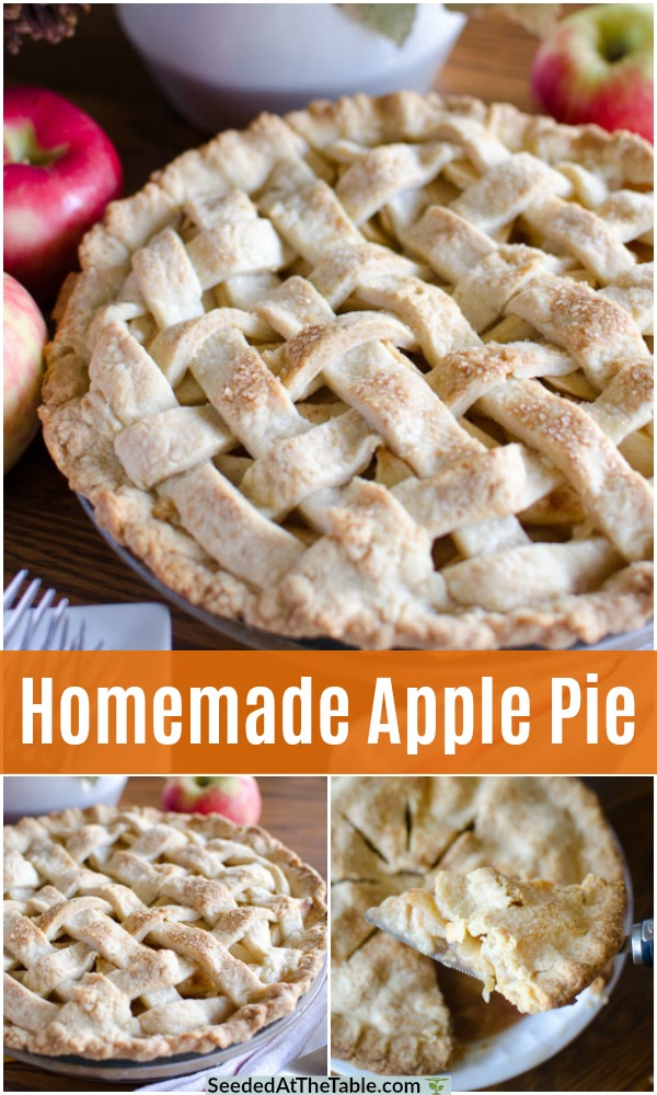 pinterest collage for homemade apple pie